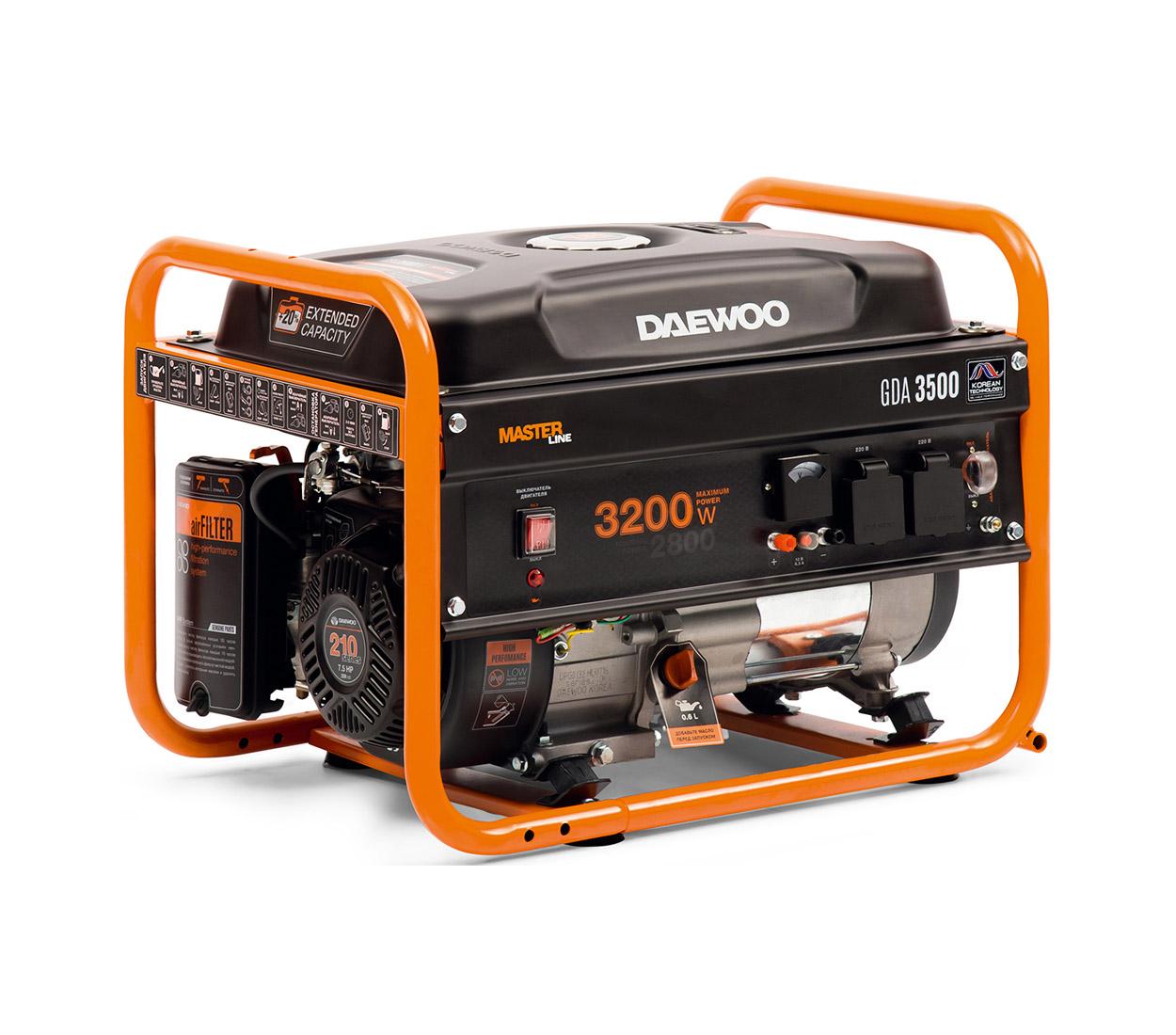 Бензиновый генератор (Бензогенератор) DAEWOO GDA 3500